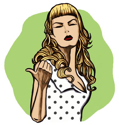 Illustration by Tom Humberstone of Traci Lords in Cry Baby