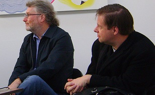Iain Banks and Paul Cornell at Newcon 4