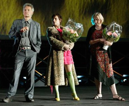 The Eternity Man presentation at the Locarno film festival -  Julien Temple, Director; Christa Hughes, actress; Rosemary Blight, producer