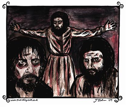 Three of the many faces of RASPUTIN by Julia Scheele