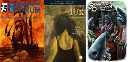 Covers from The Comics Creators Guild annual, 10x by Premieres Lignes and Semiotic Cohesion no.3
