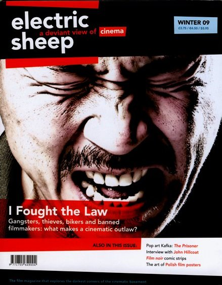 Cover of Electric Sheep Magazine Winter 2009 featuring Yang Ik-Joon in Breathless