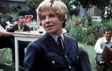 Susannah York on the set of The Battle of Britain in 1969