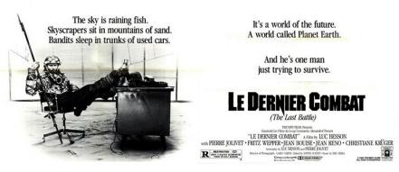 American poster for Le Dernier Combat