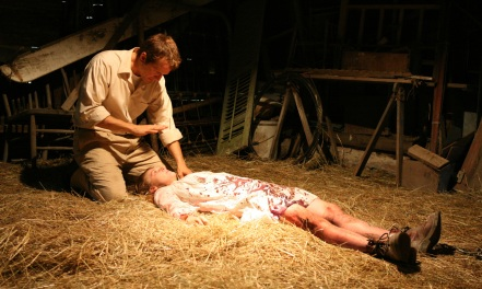 Patrick Fabian and Ashley Bell in The Last Exorcism