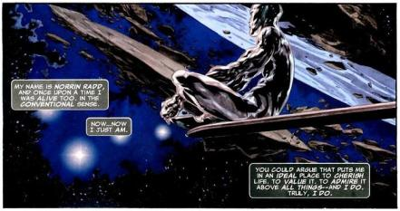 Panel from Silver Surfer: In thy name by Simon Spurrier and Tan Eng Huat