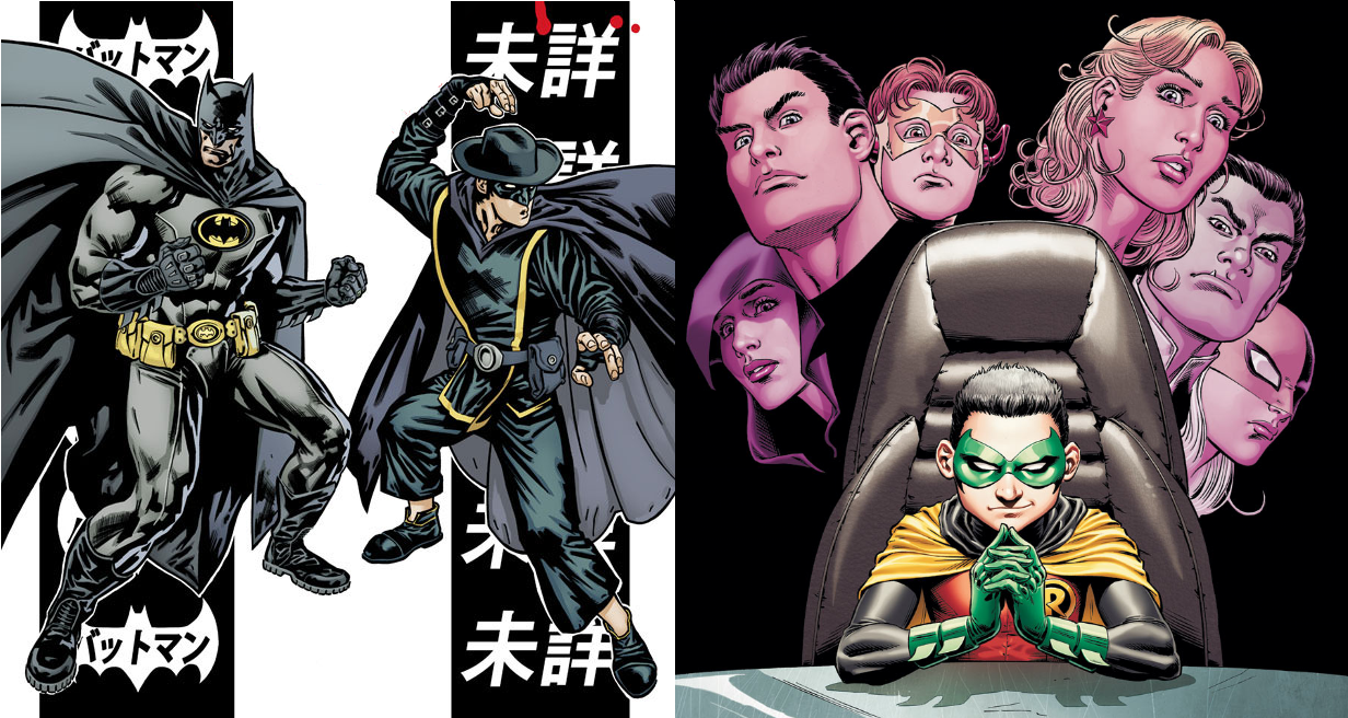 Covers of Batman Inc. #2 by Yanick Paquette and Grant Morrison, Teen Titans #89 by Nicola Scott and J.T. Krul