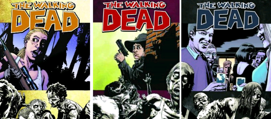 The Walking Dead, trade paperback covers 11-13 by Charlie Adlard