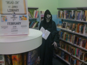 Death stalks the shelves of St James library