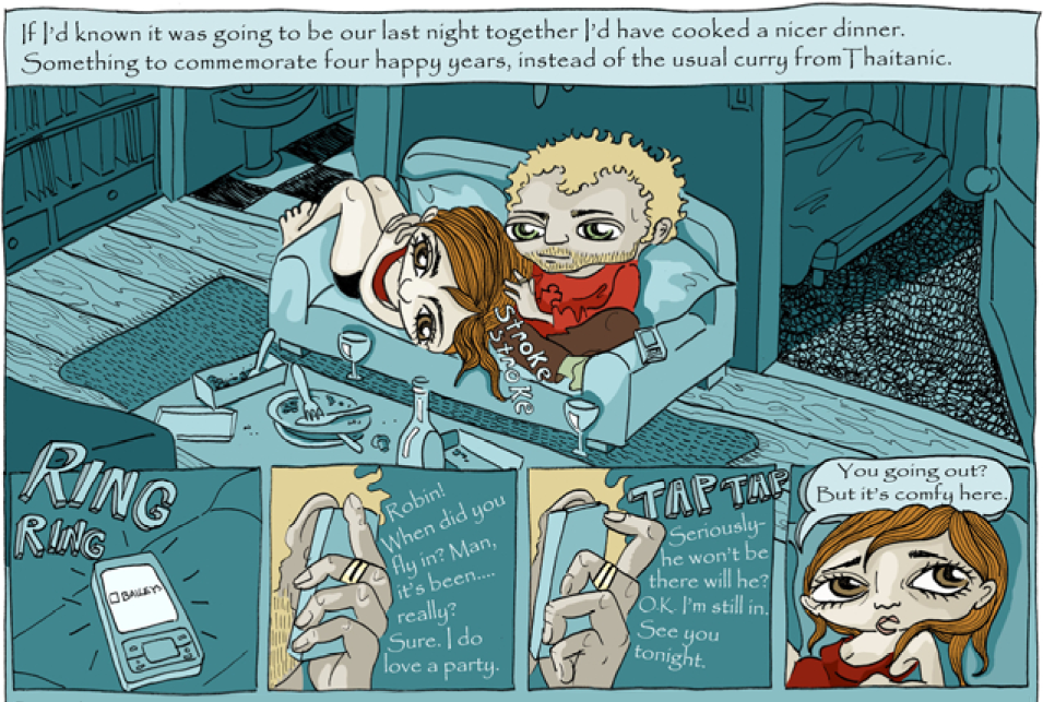 Extract from The Night I lost my love by Karrie Fransman, originally printed in The Times