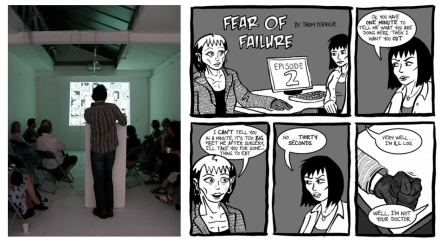 Ian Williams at Laydeez do comics, photo by Marcia Mihotich / Fear of Failure by Thom Ferrier