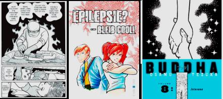 Black Jack by Osamu Tezuka, Epilepsie - bleib cool! by Stefanie Wollgarten, Barbara Lillge and Heiko Krause, Buddha by Osamu Tezuka