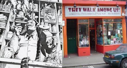 Image from Hitman by John McCrea / They Walk Among Us, Richmond, photo by Rich Johnston