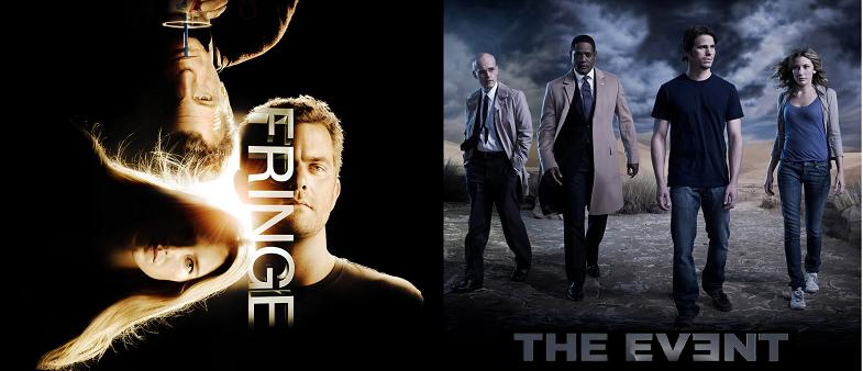 Promo images for Fringe and The Event