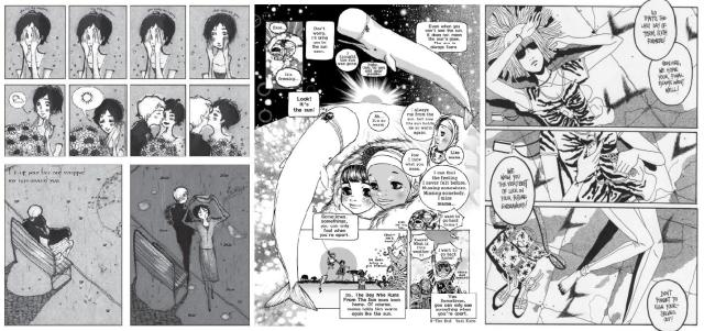 Manga Jiman entries by Zarina Liew, Yuri Kore and Clio Millett