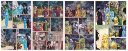 Images from Sandman: Endless Nights by Neil Gaiman and Miguelanxo Prado
