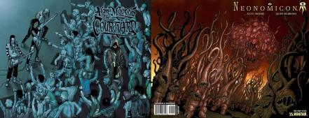 Wrap covers of The Courtyard and Neonomicon by Alan Moore, Anthony Johnson and Jacen Burrows