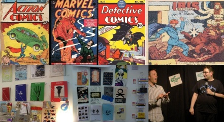 Action, Marvel and Detective Comics sold by Heritage Collectables, Ibis the Invincible, Zines and Comics at Lik + Neon, Paul Gannon and Rob Deb at Geek Night Out
