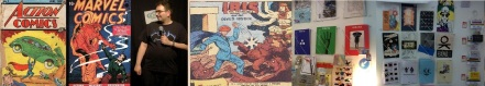 Action and Marvel Comics sold by Heritage Collectables, Ibis the Invincible, Rob Deb and Zines and Comics at Lik + Neon