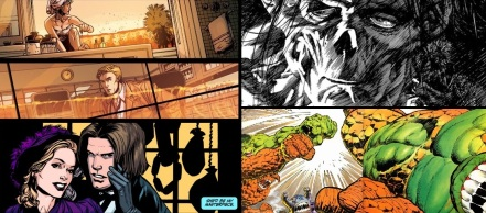 Age of Iron / Angel and Faith by Rebekah Isaacs + Frankenstein / The Incredible Hulk and the Thing by Bernie Wrightson