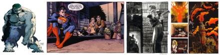 The Hulk, Superman, Batman and Heroes art by Tim Sale