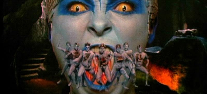 Still from The Lair of the White Worm by Ken Russell