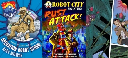 The Mythical 9th Division by Alex Milway, Robot City adventures by Paul Collicutt, Doctor Who Adventures by Eddie Robson