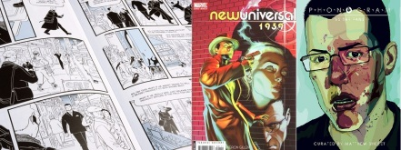 Excerpt from SVK by Warren Ellis and Disraeli / Covers of newuniversal: 1959 and Phonogram vs. the fans