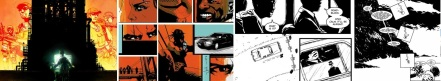 Extracts from comics by Lee O Connor, Jock, John Spelling and Dom Reardon