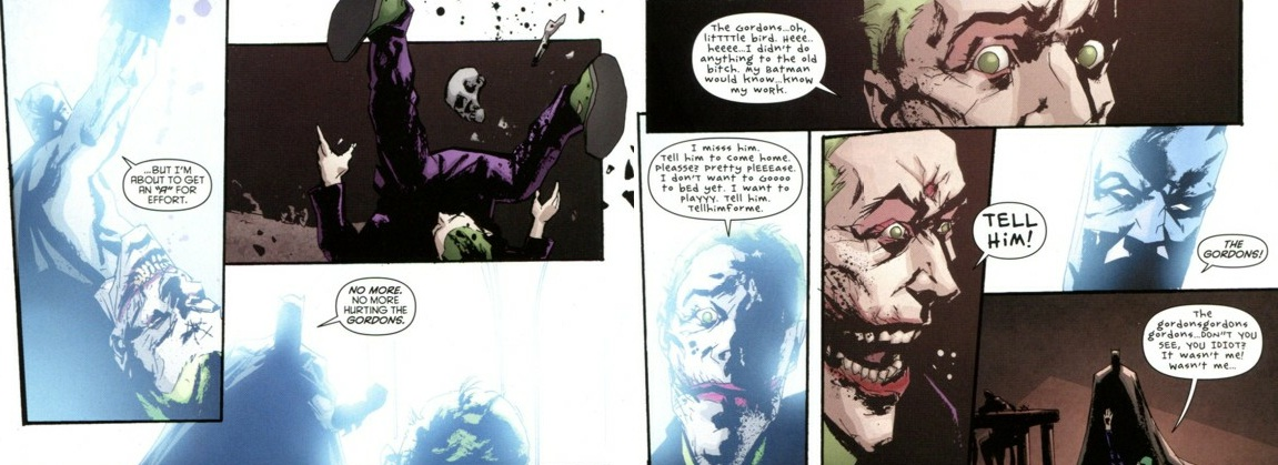 Extract from Batman: The Black Mirror by Scott Snyder and Jock