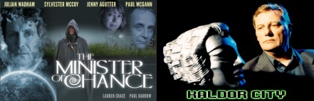 Promotional images for The Minister of Chance and Kaldor City, starring Paul Darrow