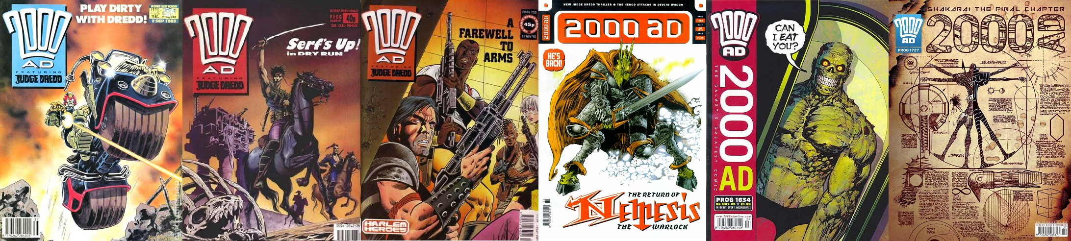 2000AD covers by Kev Hopgood and Henry Flint