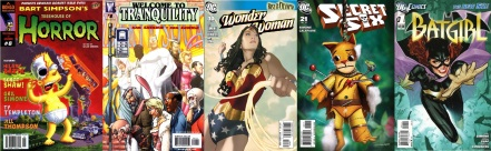 Comics by Gail Simone: Treehouse of Horror / Welcome to Tranquility / Wonder Woman / Secret Six / Batgirl