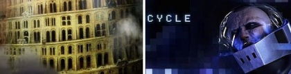 Still from Babledom and poster for Cycle