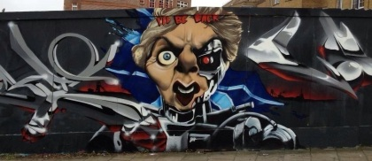 Thatcher graffiti in Brighton, April 2013