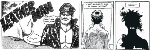 Panels from Safer Sex Comix and Alex et la vie d apres