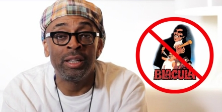 Still of Spike Lee from Kickstarter campaign video + an example of what his new film is not about
