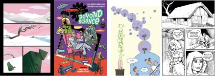 Comics by Robert M Ball, Rian Hughes, Mike Medaglia and Karen Rubins