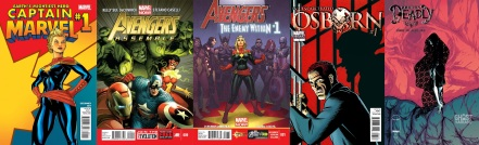 Covers of various comics by Kelly DeConnick