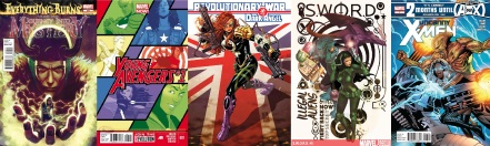 Covers of various comics by Kieron Gillen