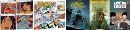 Extracts from The Rabbis Cat and Tokyo by Joann Sfar and covers of three forthcoming releases from Humanoids UK