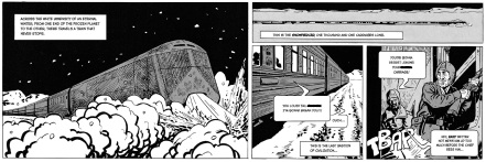 Excerpt from Snowpiercer vol. 1 by Jacques Lob and Jean-Marc Rochette, translated by Virginie Sélavy