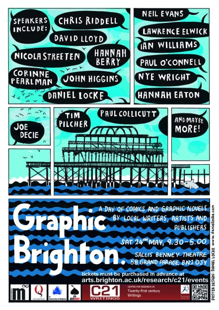 Graphic Brighton Poster designed by Daniel Locke