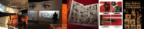 Comics Unmasked at the British Library / Oh Boy! by Bob Monkhouse / comics by Dave McKean