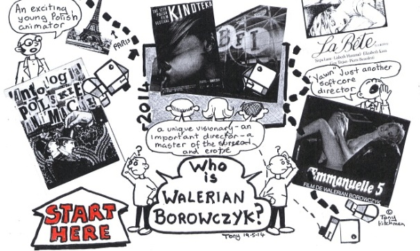 Excerpt from Walerian Borowczyk board game by Tony Hitchman
