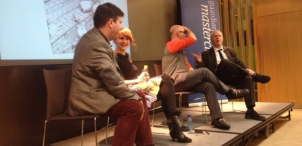 Alex Fitch interviews Karrie Fransman, Toby Litt and Martin Rowson at Guardian Masterclass