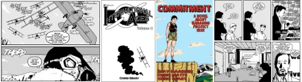 Interior art and cover of International Aces / Limited edition cover and interior art of Commitment by Chris Geary