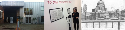Exterior of Space Station 65 gallery / Ariel Schrag discusses her work / excerpt from The Book of Sarah by Sarah Lightman