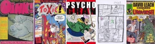 Comics featuring the work of David Leach + Psycho Gran thumbnails