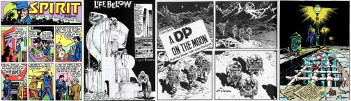 Excerpts from The Spirit by Will Eisner, originally published in 1940, 1949, 1952 and 1997